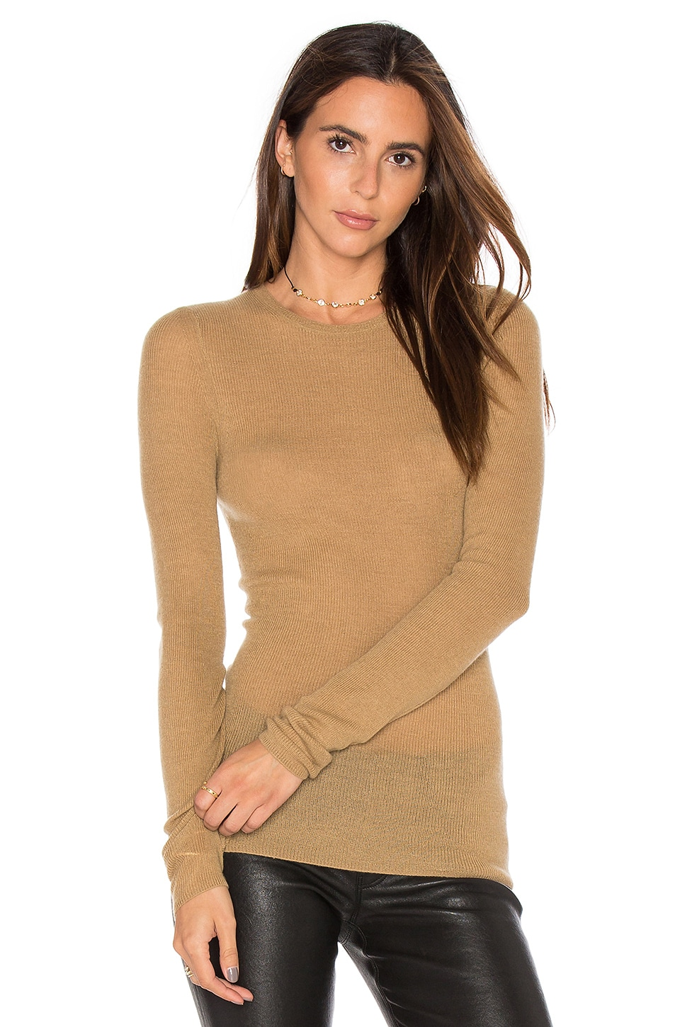 Vince Ribbed Sweater in Camel | REVOLVE