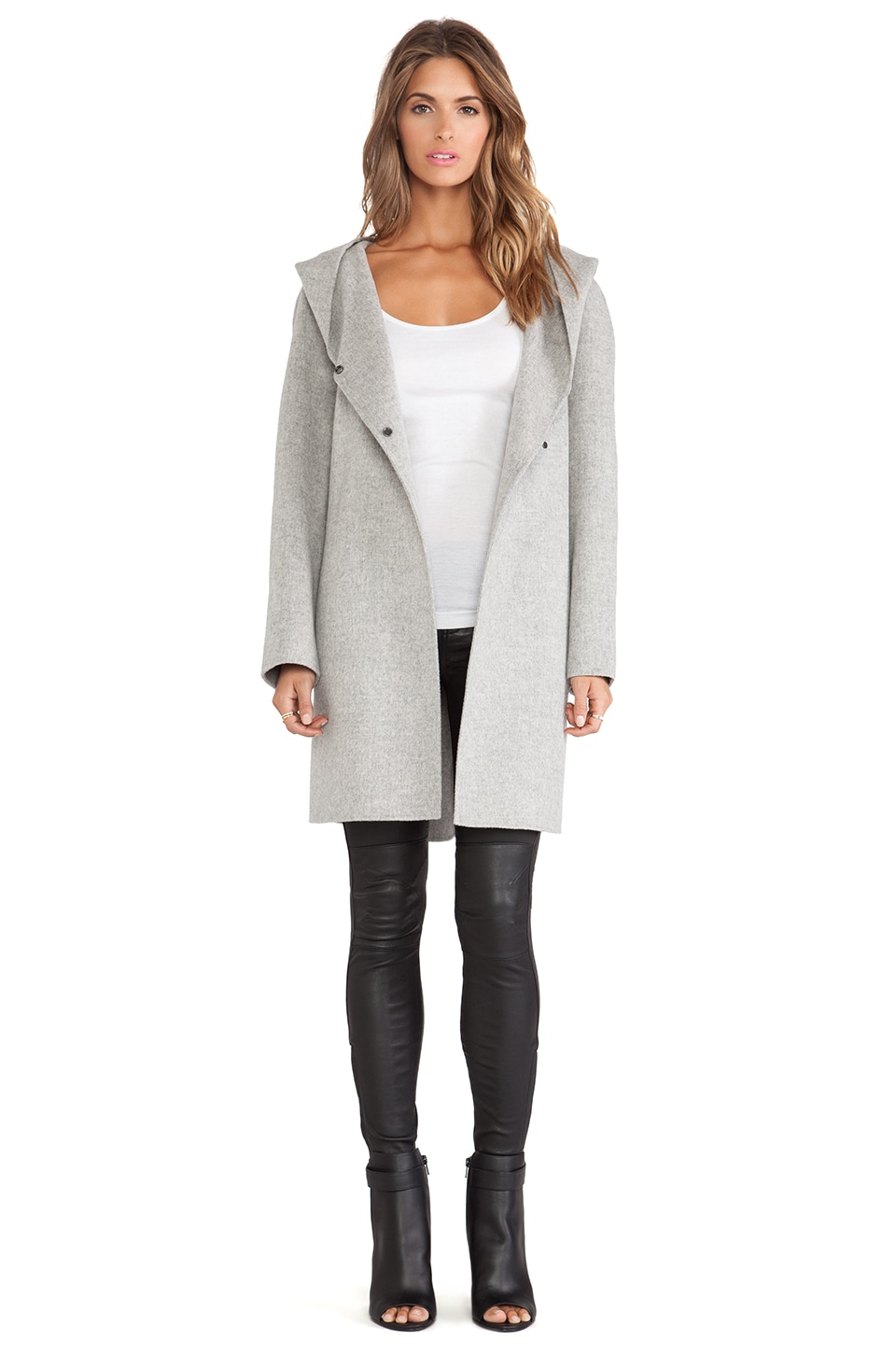 neck hooded coat drape genuine rack jacket shop vince drapes product image nordstrom leather of