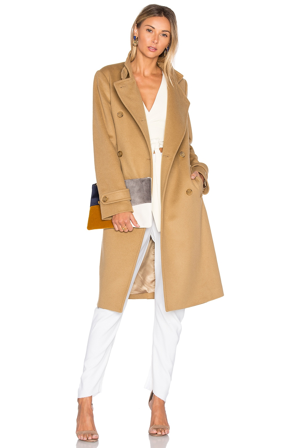 Vince Melton Trench Coat in Camel