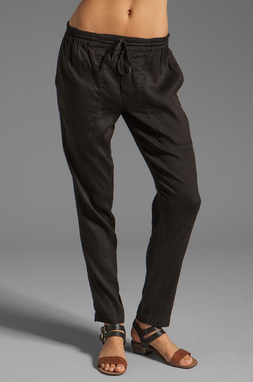 Vince Linen Jogger Pant in Black