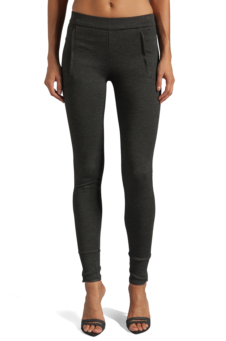 Vince Jogger Legging in Heather Charcoal