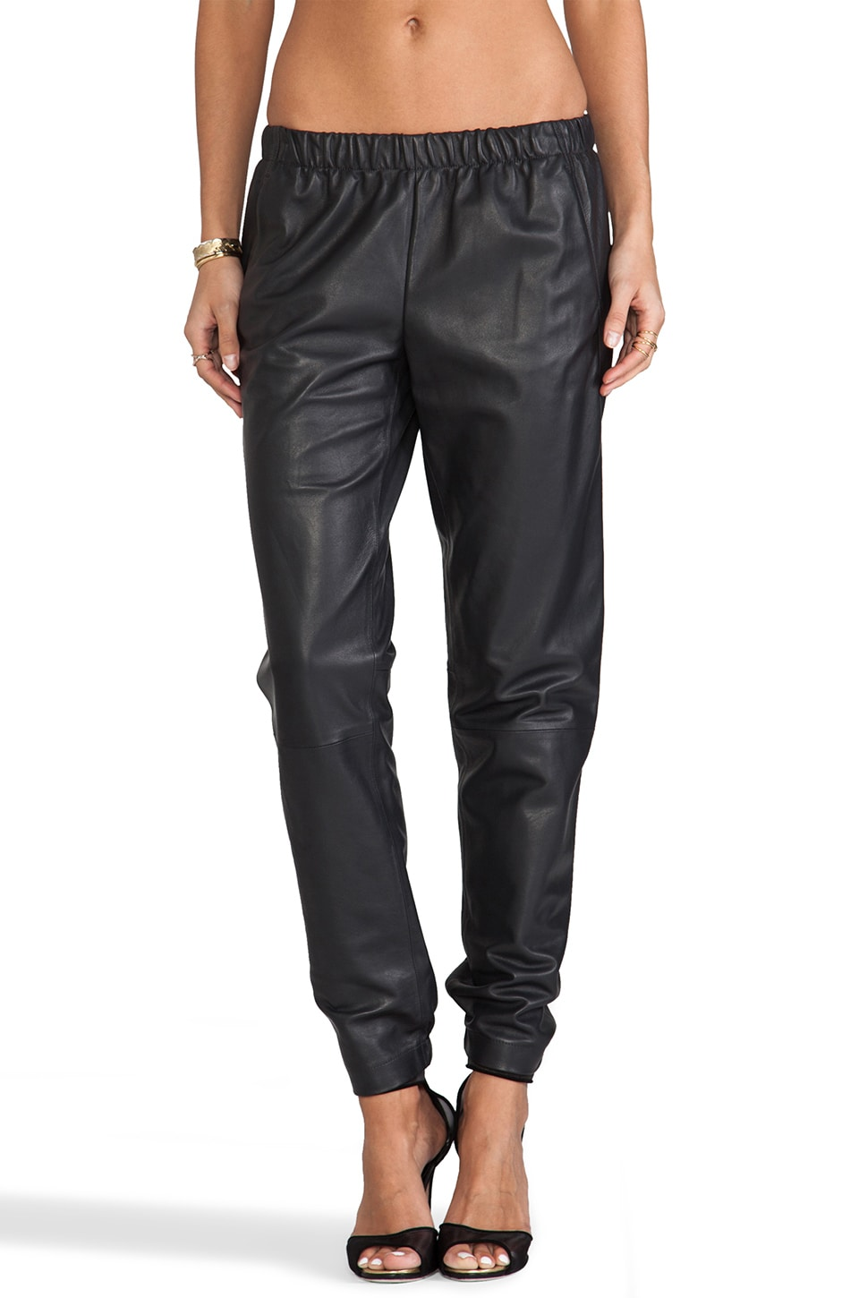 Vince Wrap Seam Pant in Graphite