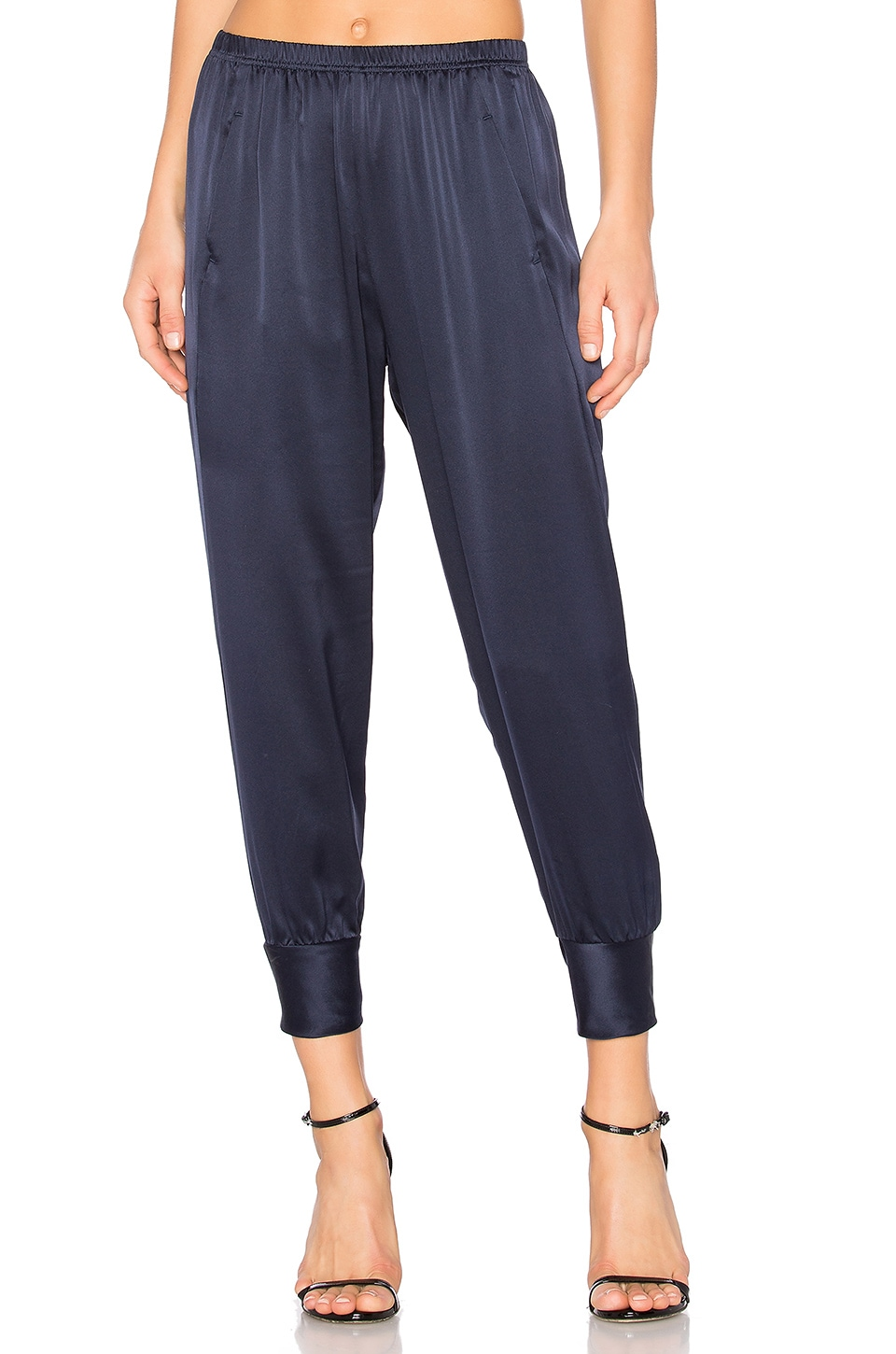 Vince Slim Satin Jogger in Coastal