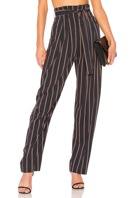 Belted Stripe Wide Leg Pant