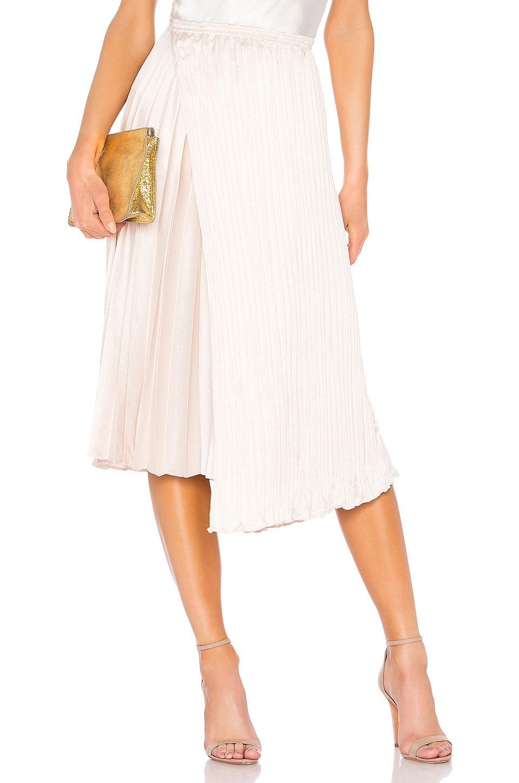 Vince Mixed Pleat Skirt in Pale Adler