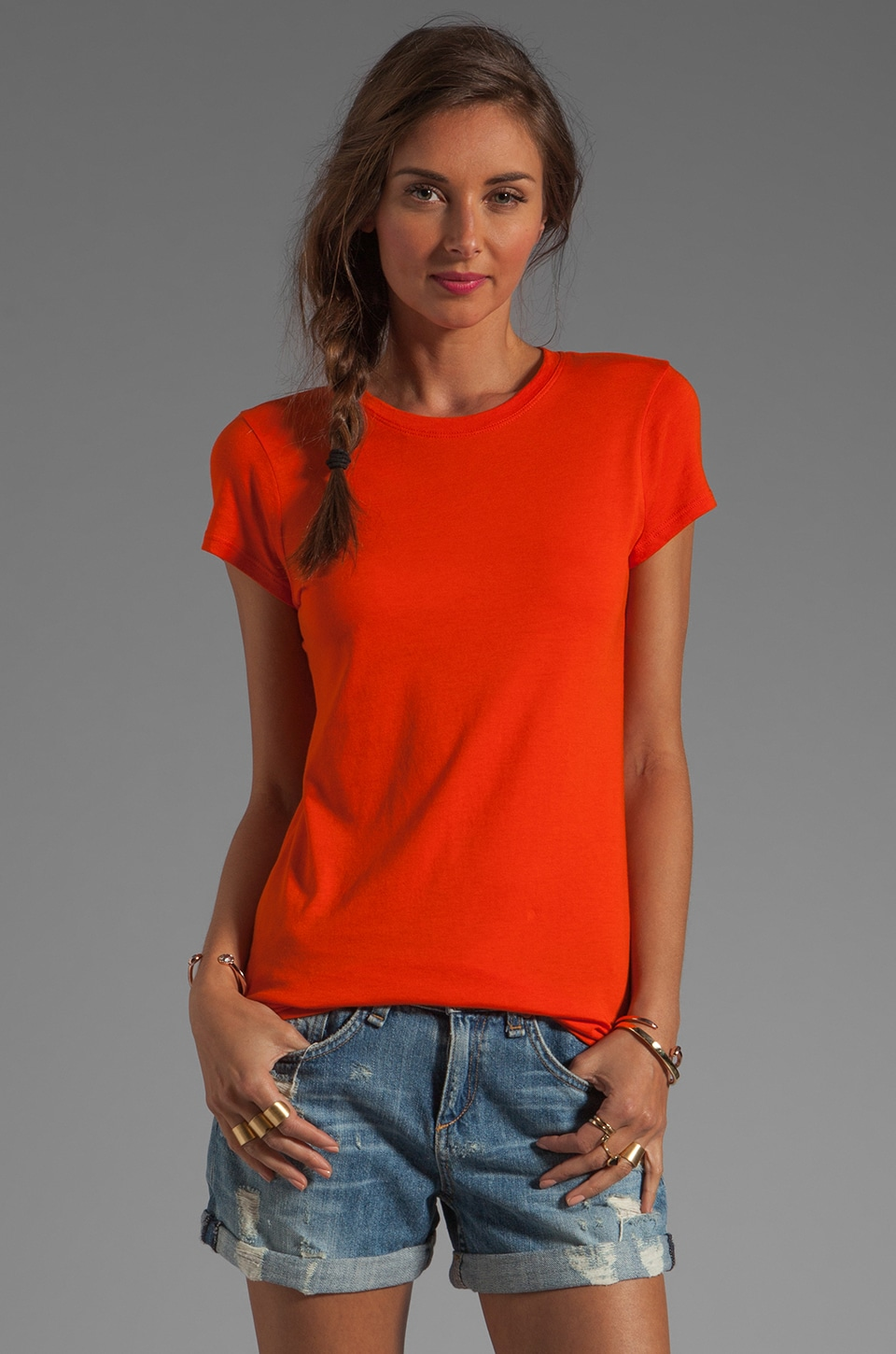 Vince Little Boy Tee in Persimmon