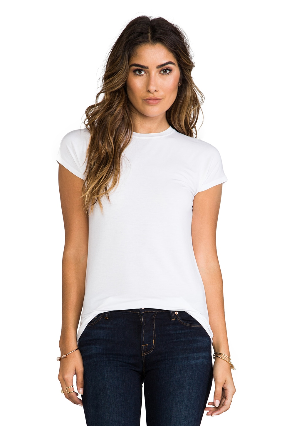 Vince Little Boy Dolman Tee in White