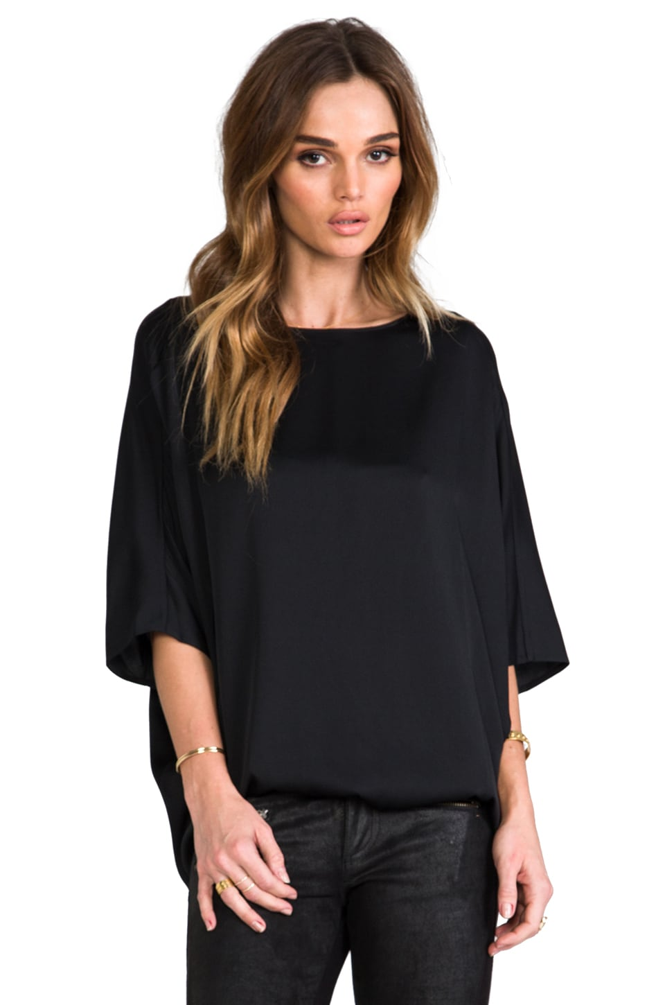 Vince Sculptured Blouse in Black