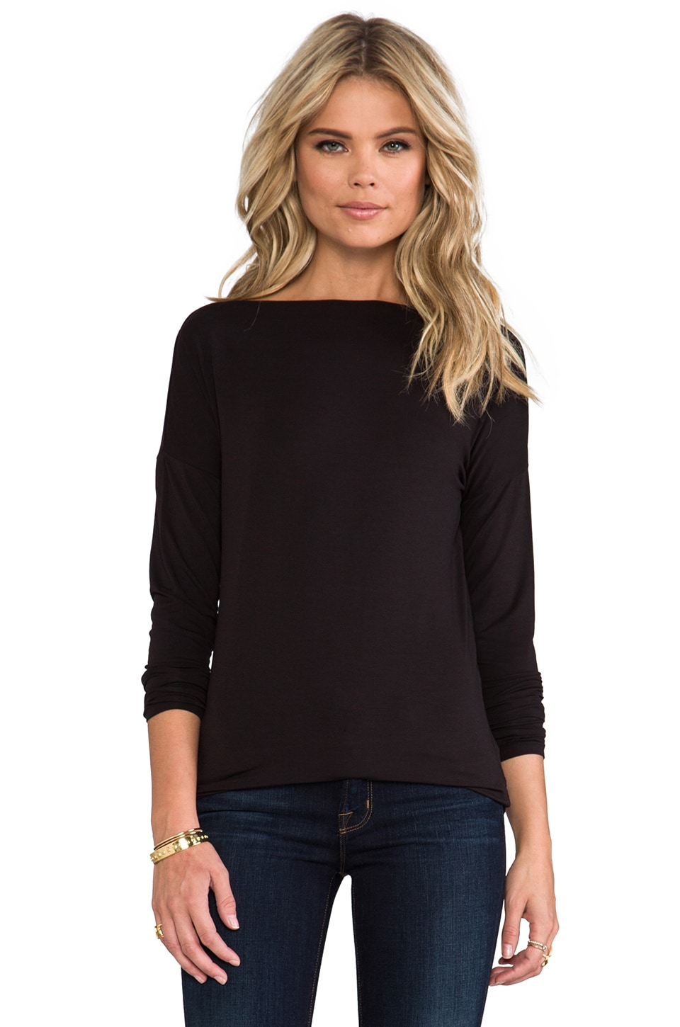 Vince Boatneck Tee in Black