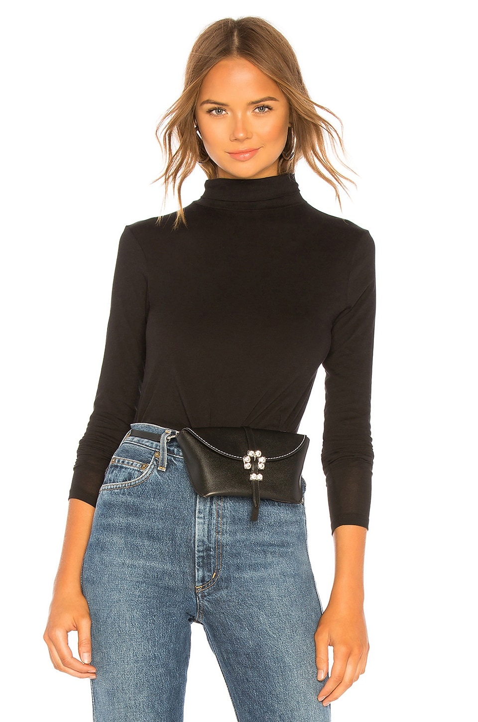 Vince Turtleneck Tee in Black