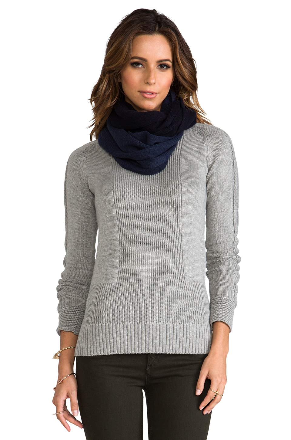 Vince Colorblock Loop Scarf in Royal & Coastal