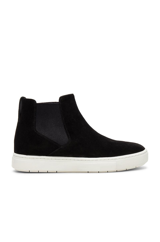 Vince Newlyn Hi Top Sneaker in Black
