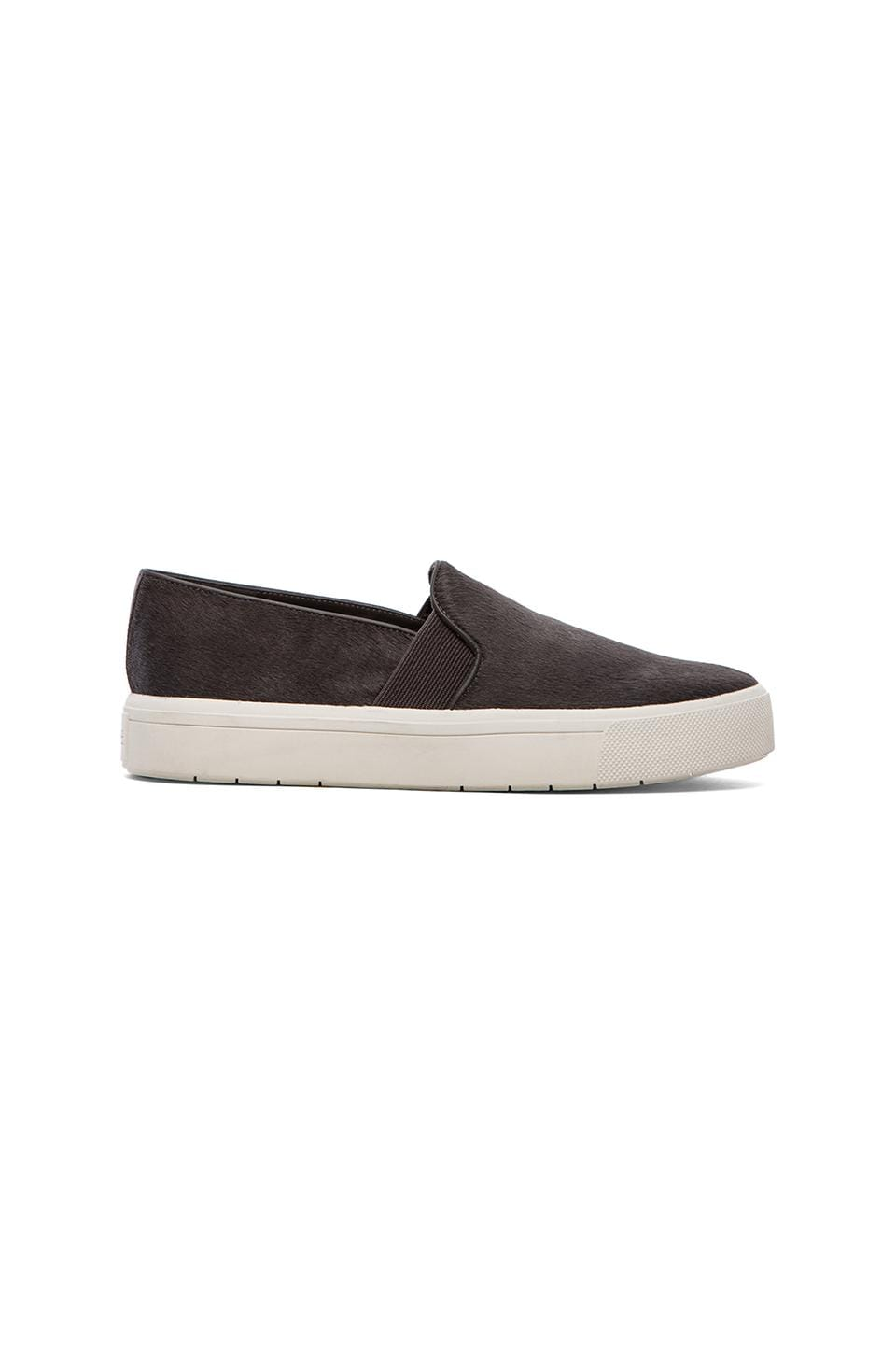 Vince Berlin Flat with Calf Fur in Graphite