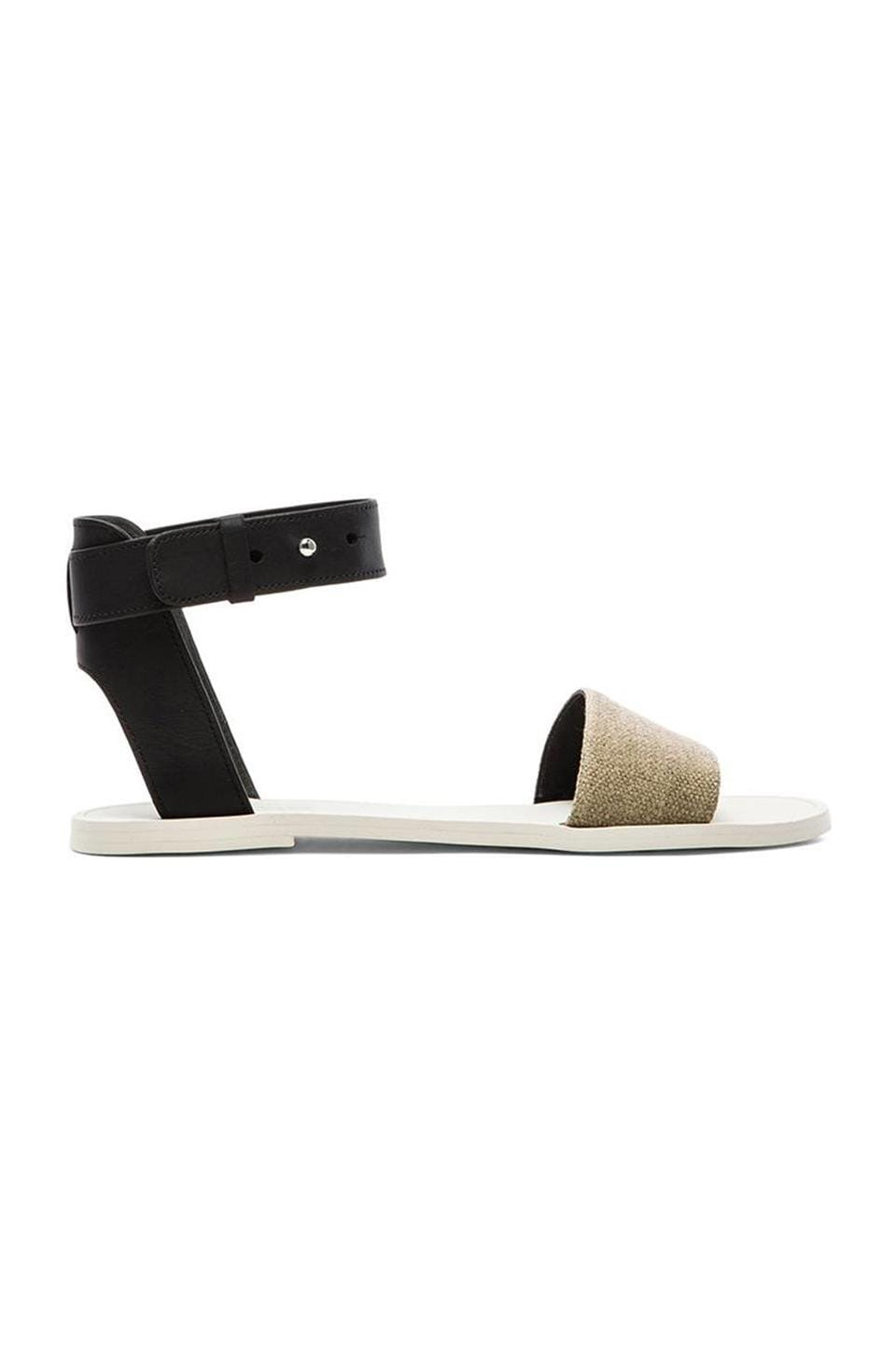 Vince Sawyer Sandal in Natural & Black