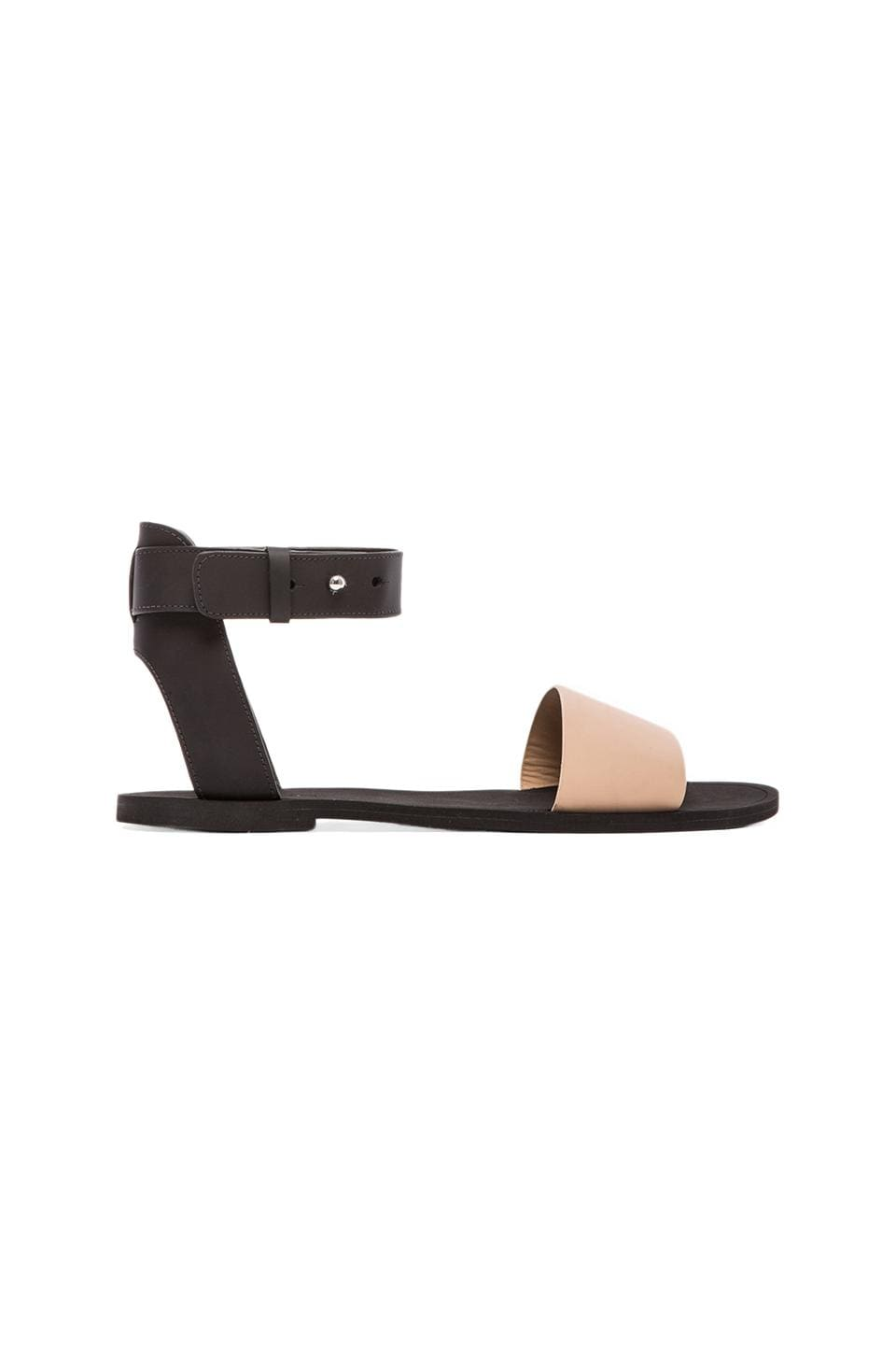 Vince Sawyer Sandal in Cappuccino & Black