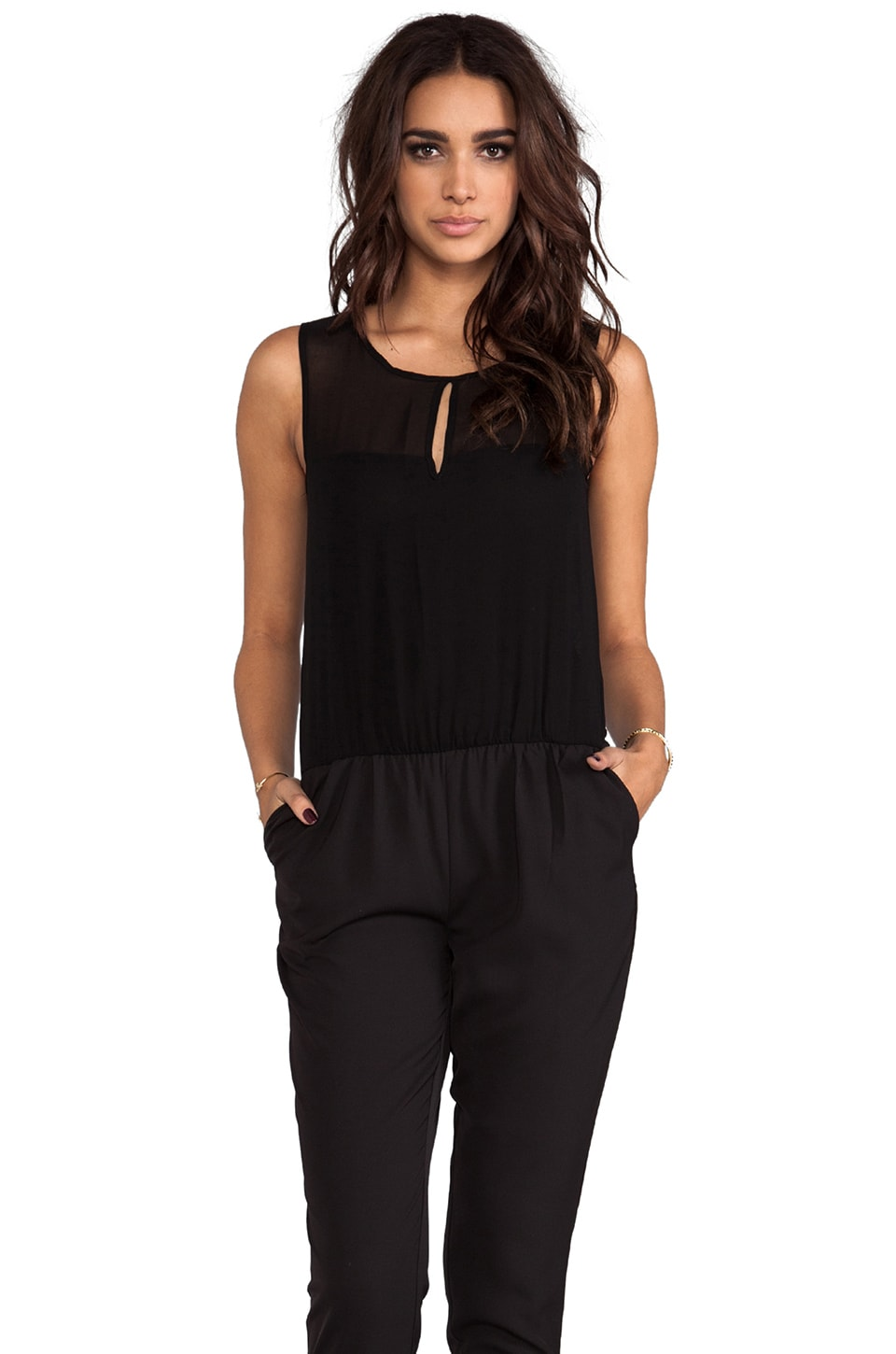 Viparo Ainsley Relaxed Jumpsuit in Black