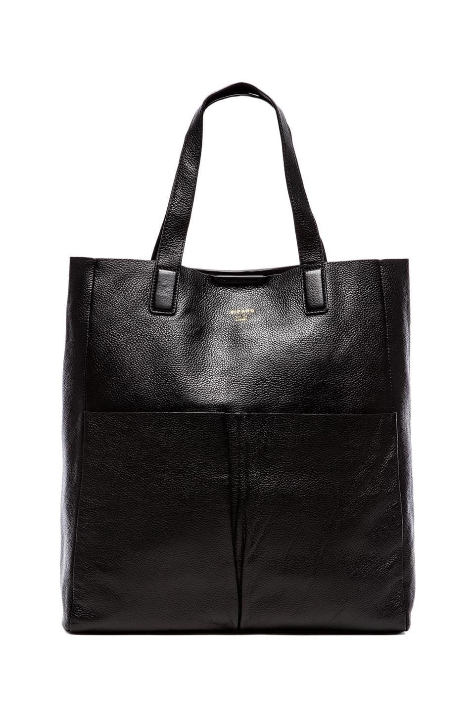 Viparo Amari Leather Carry All Large Tote in Black