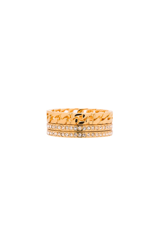 Vita Fede Catena Crystal Ring in Gold