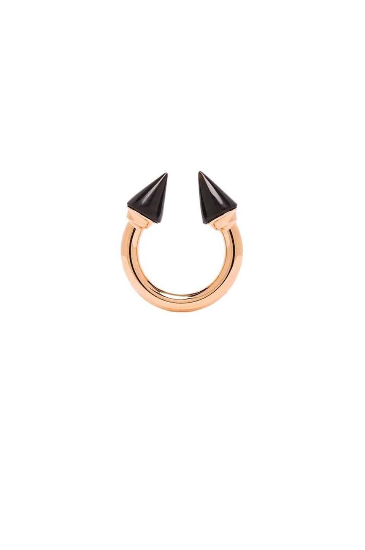 Vita Fede Titan Stone Ring in Rosegold/Onyx