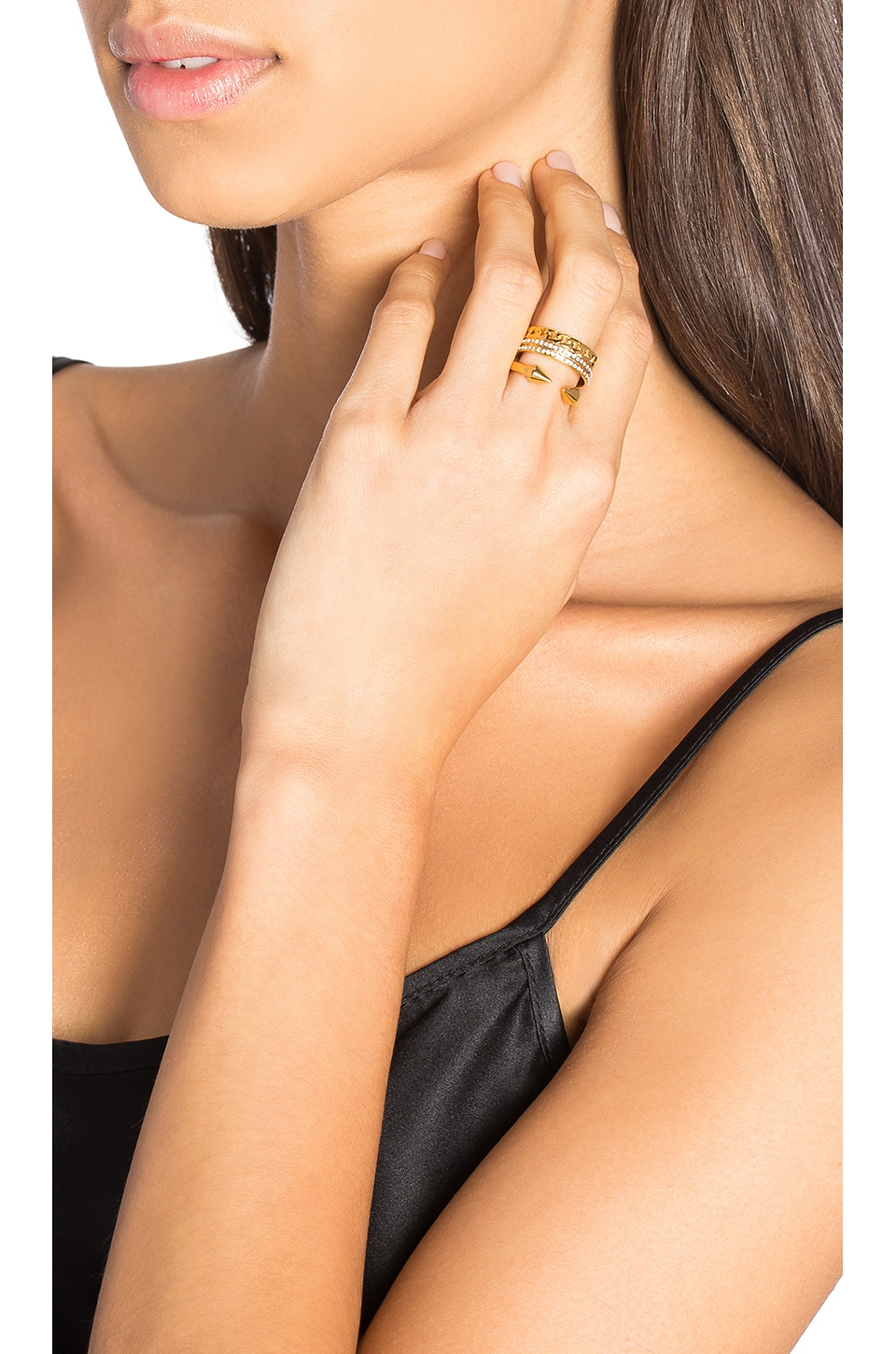 Vita Fede Catena Titan Ring in Gold