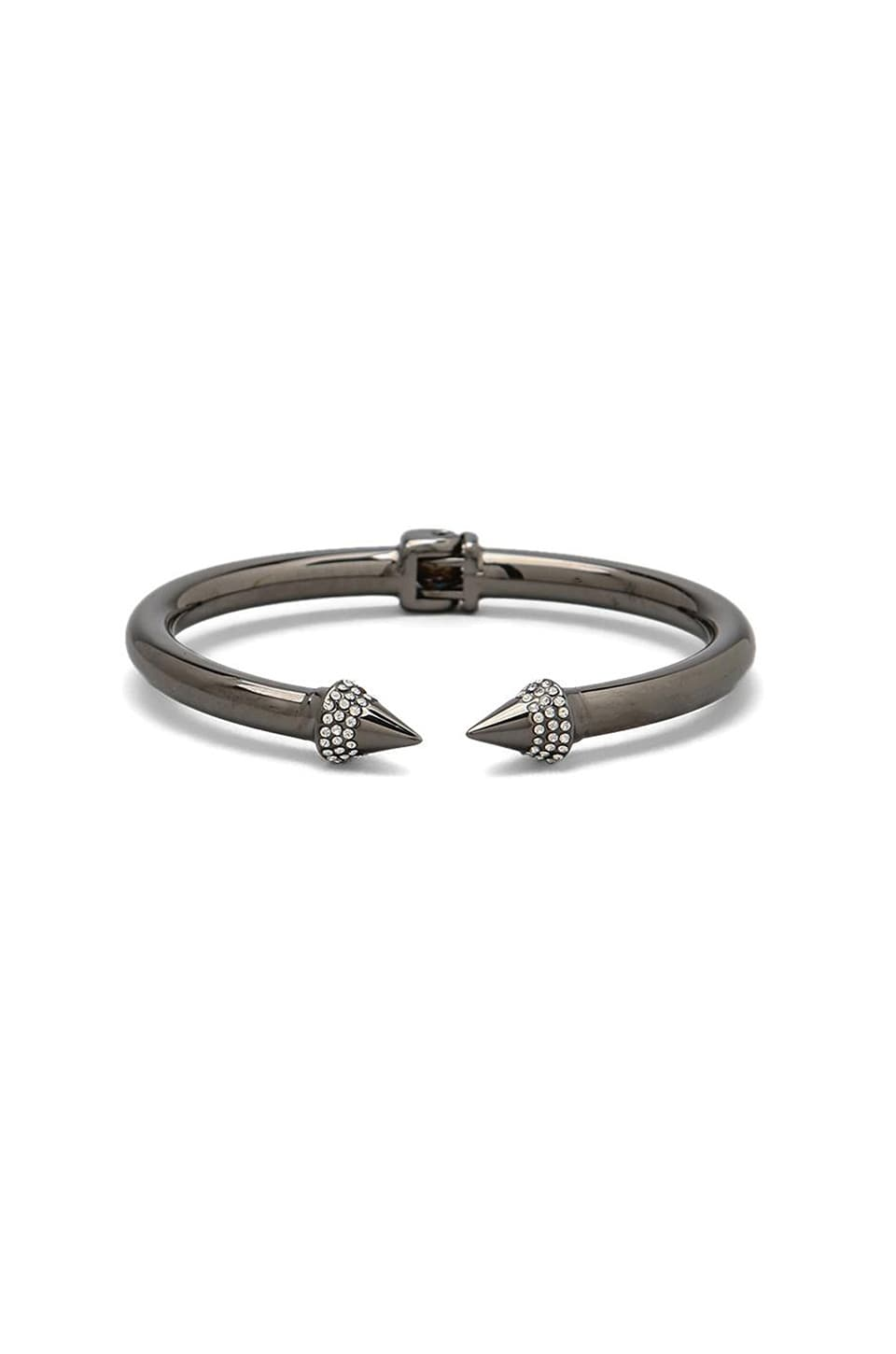 Vita Fede Mini Titan Crystal Bracelet in Gunmetal/Clear