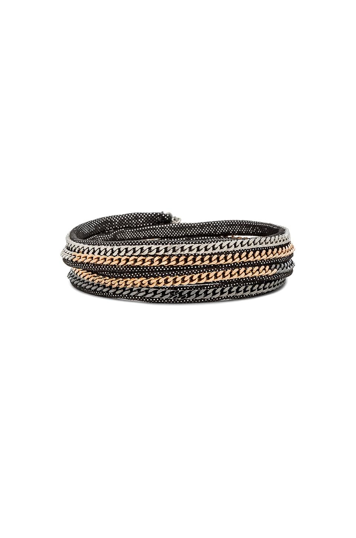 Vita Fede Capri Wrap Bracelet in Mars Leather & Multi