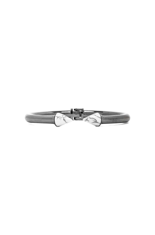 Vita Fede Mini Titan Stone Bracelet in Gunmetal/White Howlite