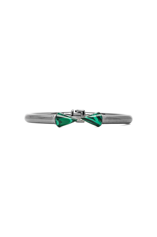 Vita Fede Mini Titan Stone Bracelet in Gunmetal/Malachite
