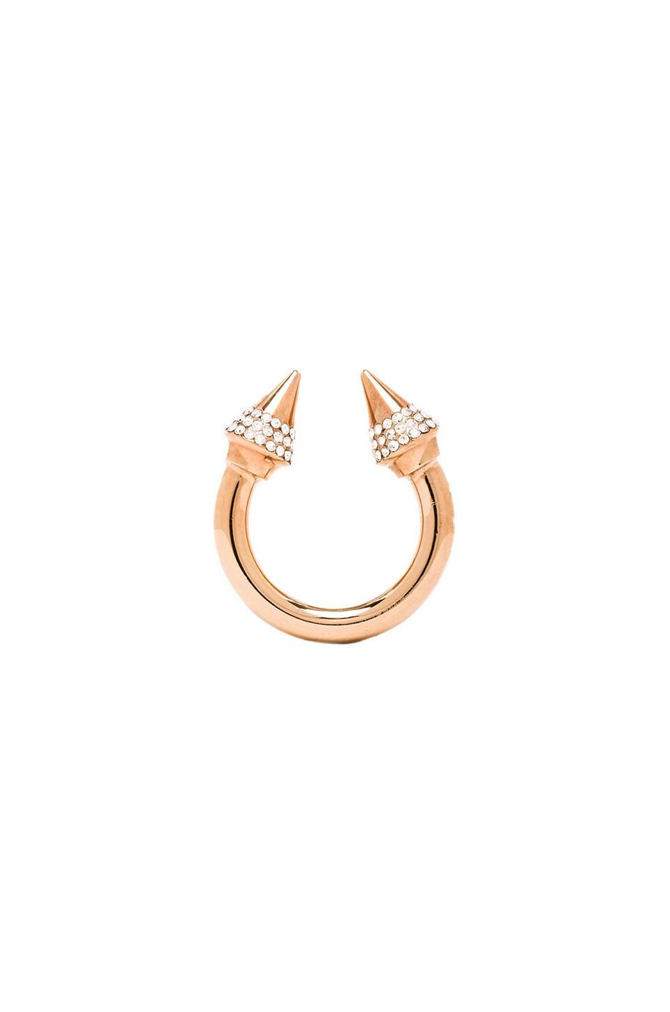 Vita Fede Titan Crystal Ring in Rosegold/Clear