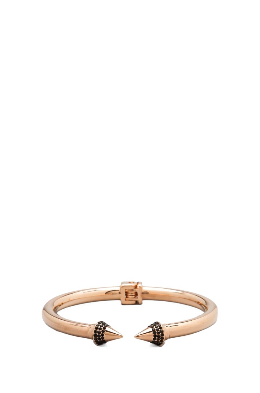 Vita Fede Mini Titan Crystal Bracelet in Rose Gold/ Crystal Black