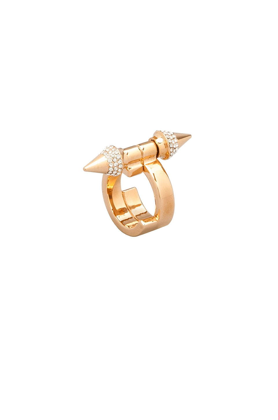 Vita Fede Babylon Ring in Rosegold/Clear