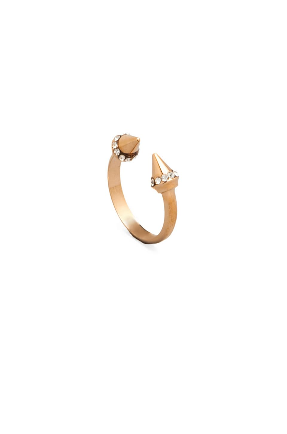 Vita Fede Ultra Mini Titan Crystal Ring in Rosegold & Clear
