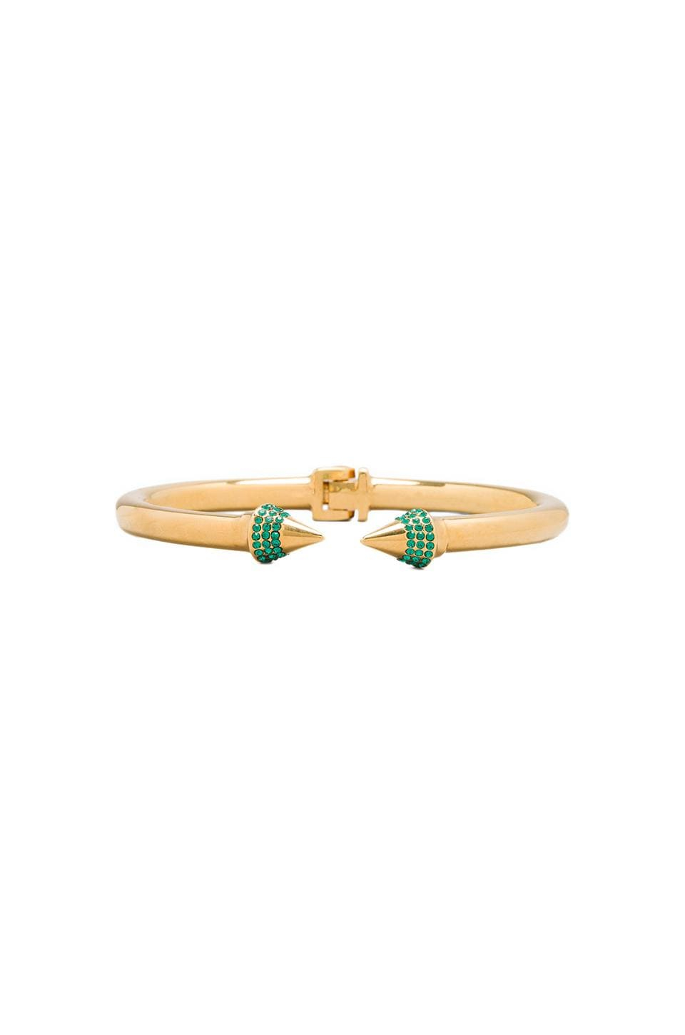 Vita Fede x REVOLVE Mini Titan Crystal Bracelet in Emerald/Gold
