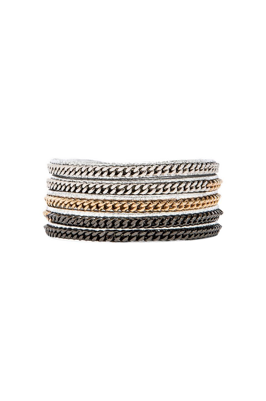 Vita Fede Capri 5 Wrap in Multi & Silver
