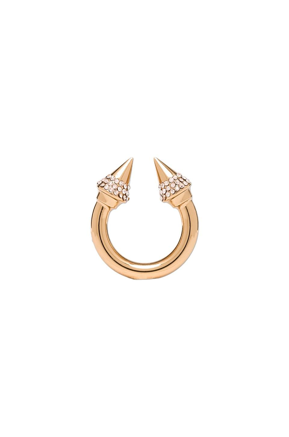 Vita Fede Titan Crystal Ring in Rosegold & Champagne