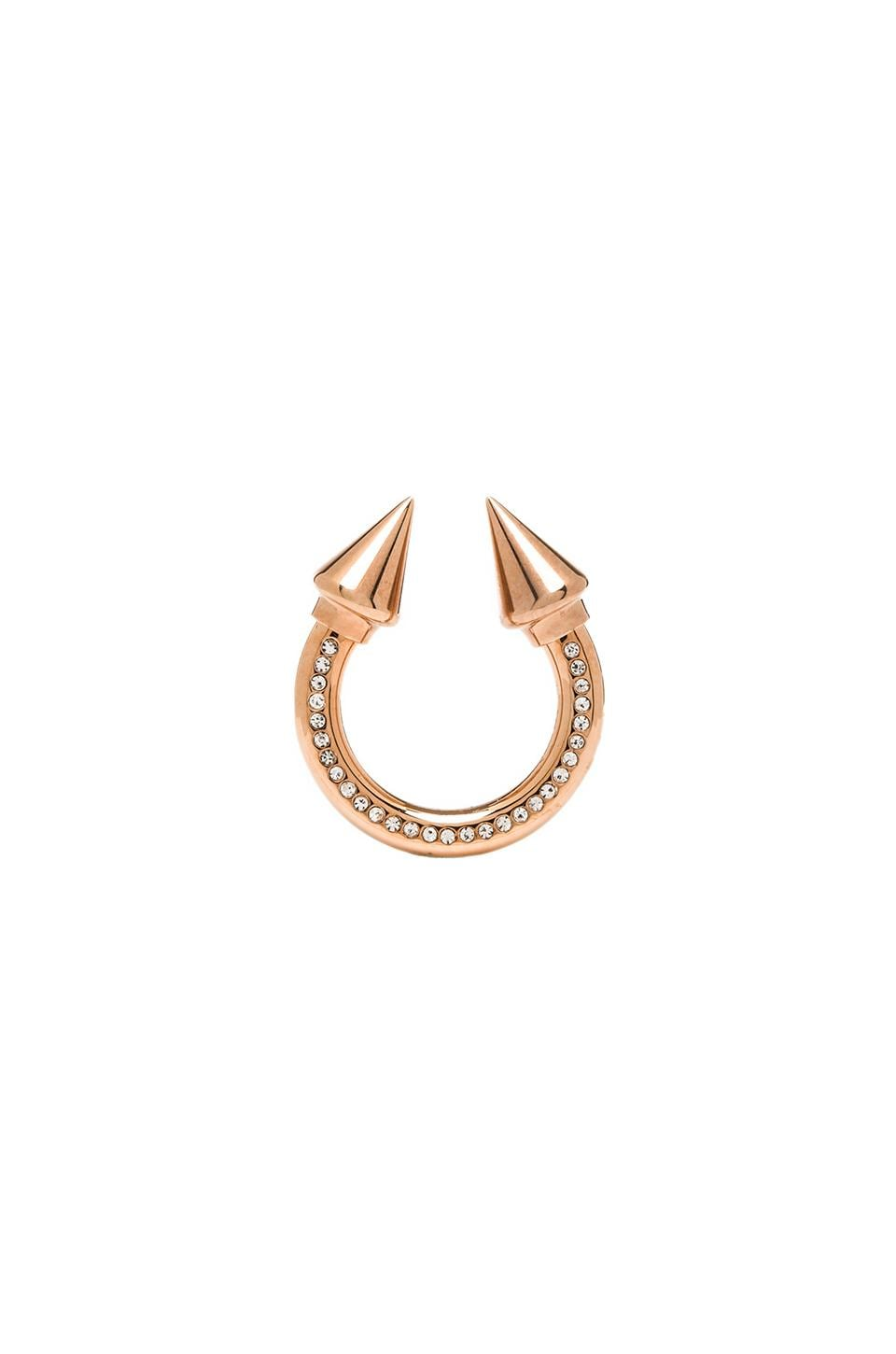 Vita Fede Titan Surf Ring in Rosegold & Clear