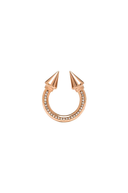Vita Fede Titan Surf Ring in Rosegold & Clear