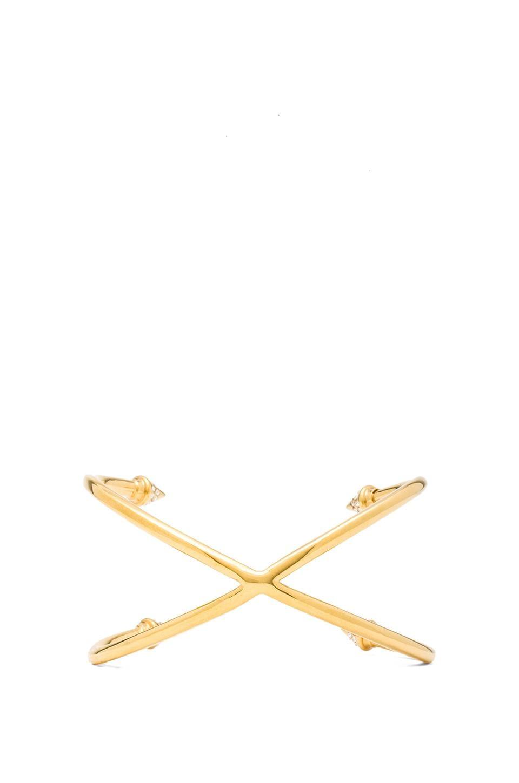 Vita Fede Double Crossed Titan Cuff in Gold
