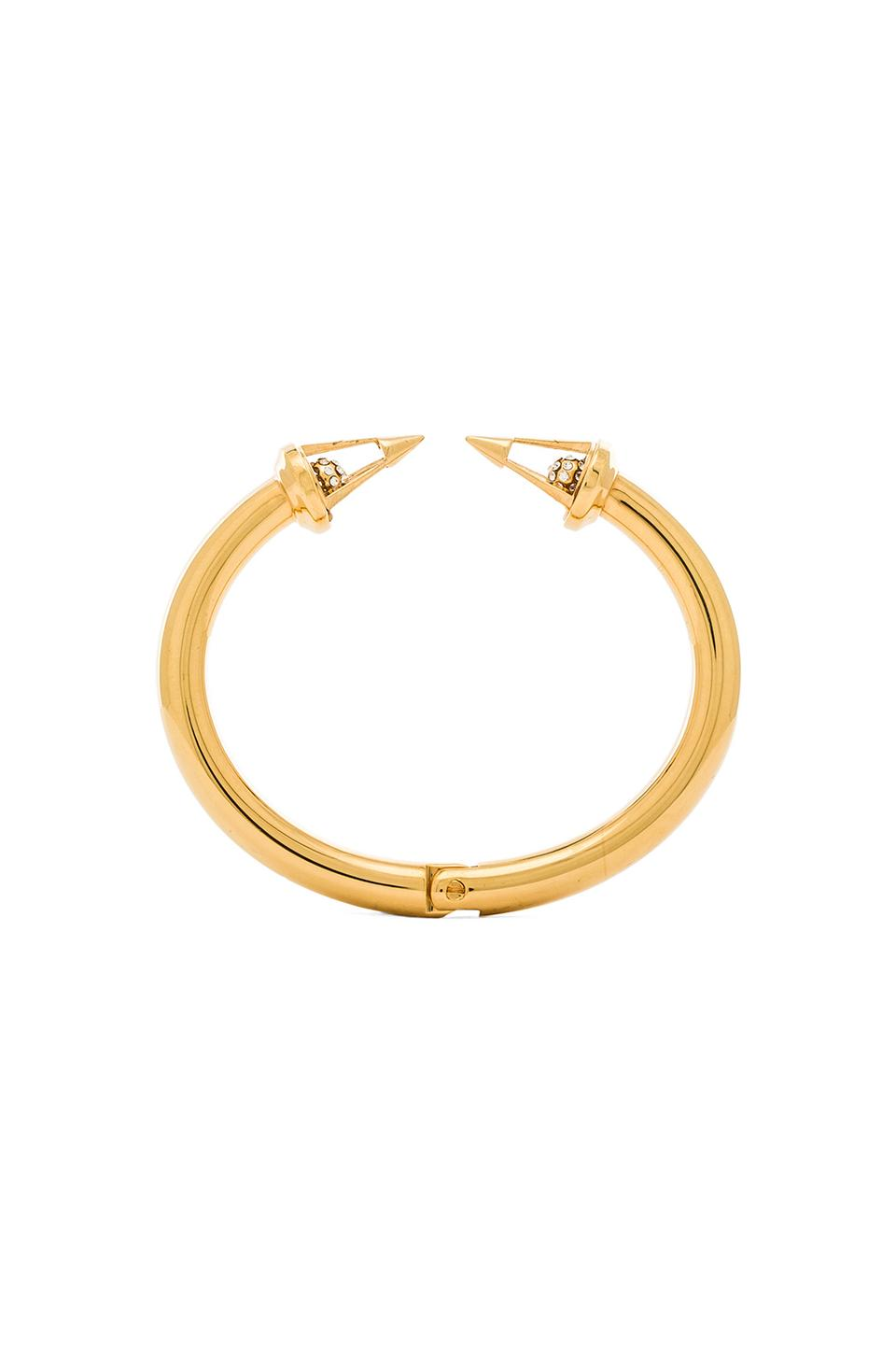 Vita Fede Titan Caged Crystal Ball Bracelet in Gold