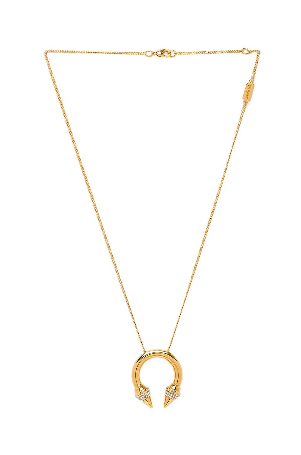 Vita Fede Titan Crystal Ring Necklace in Gold