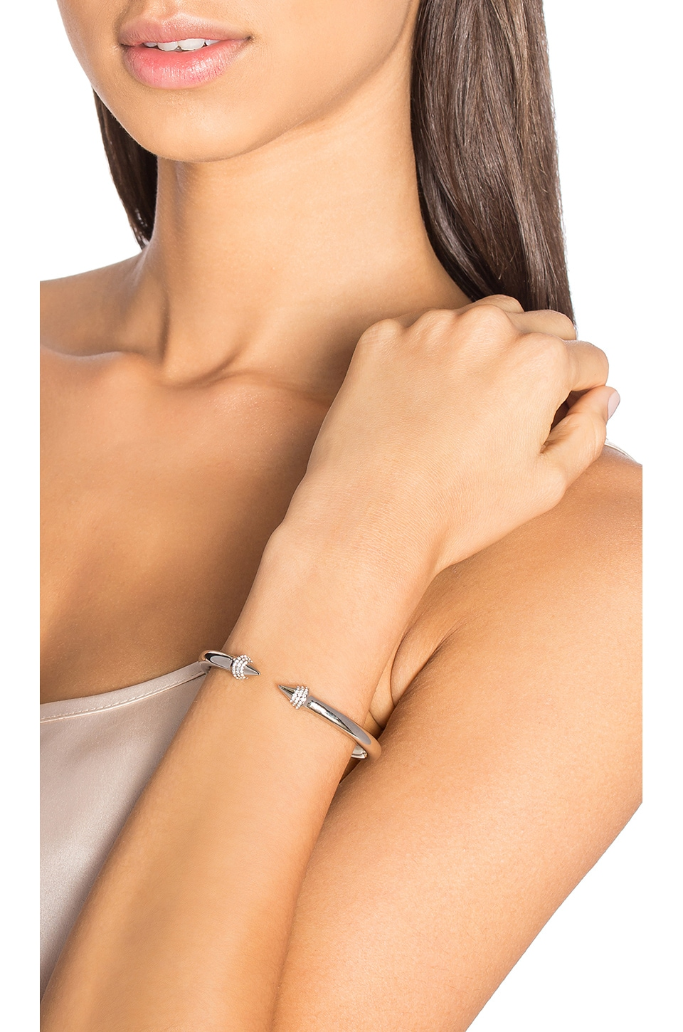 Vita Fede Mini Titan Crystal Bracelet in Silver/Clear