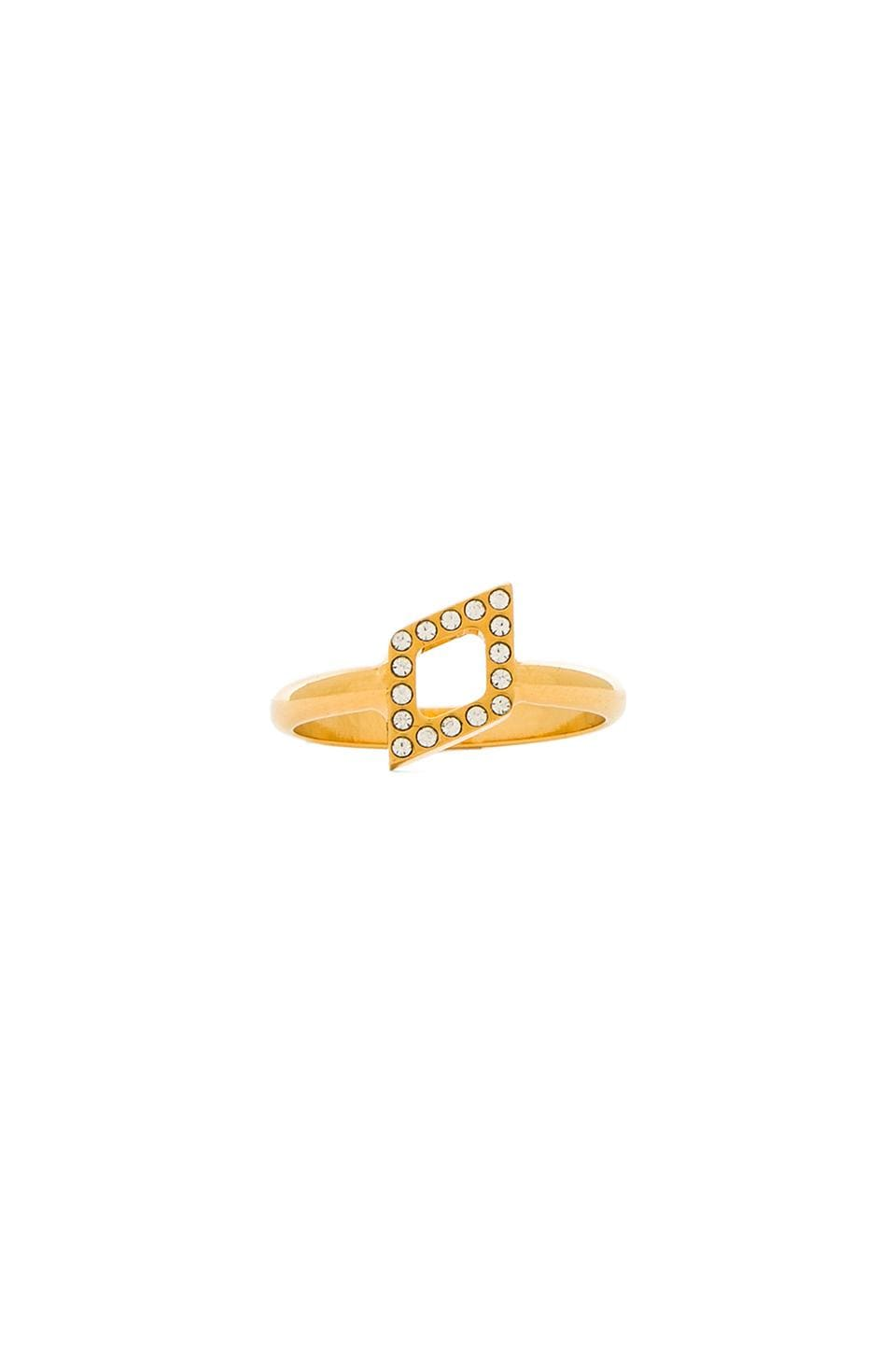 Vita Fede Rombo Crystal Ring in Gold