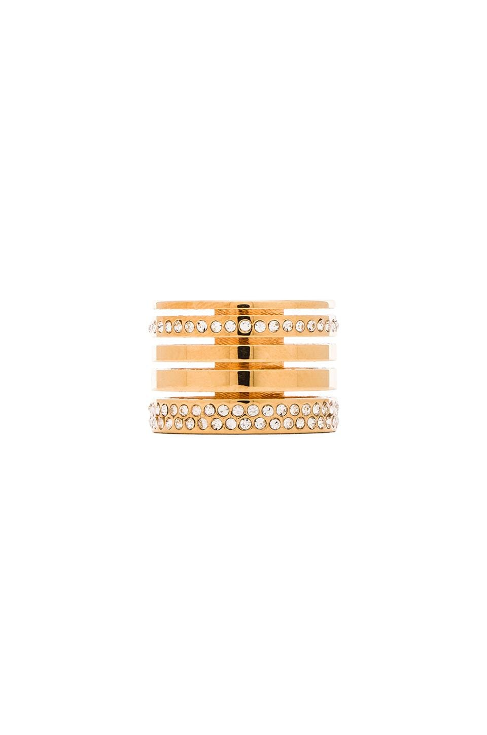 Vita Fede Pila Band Ring in Gold & Rose Gold & Silver