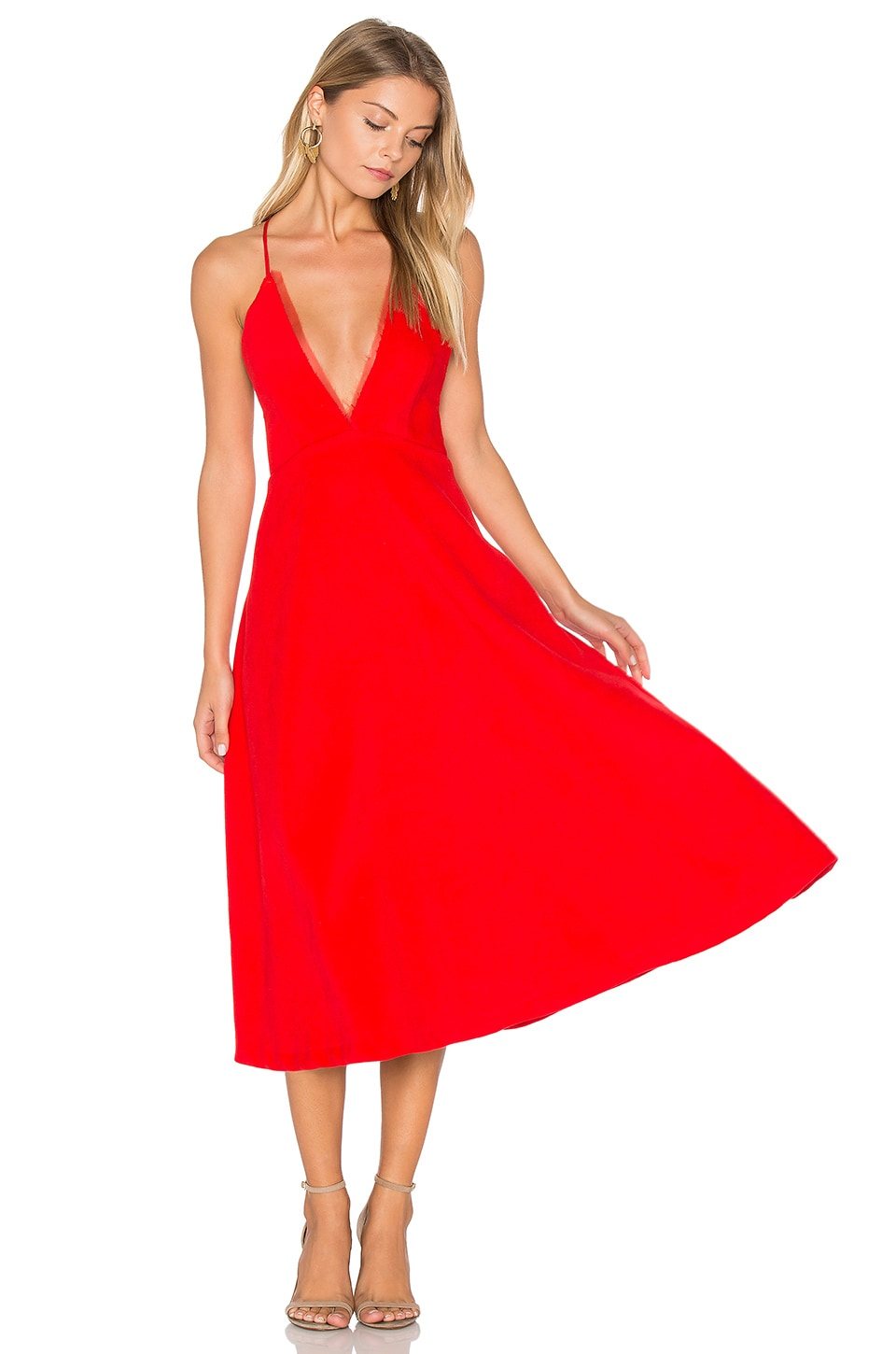 VIVIAN CHAN Magda Dress in Red