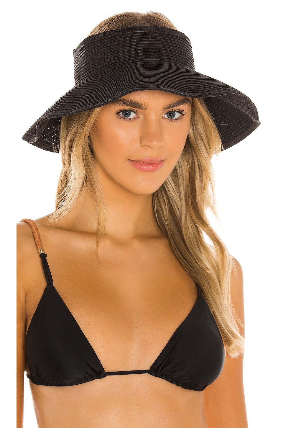 Vix Swimwear Visor in Black