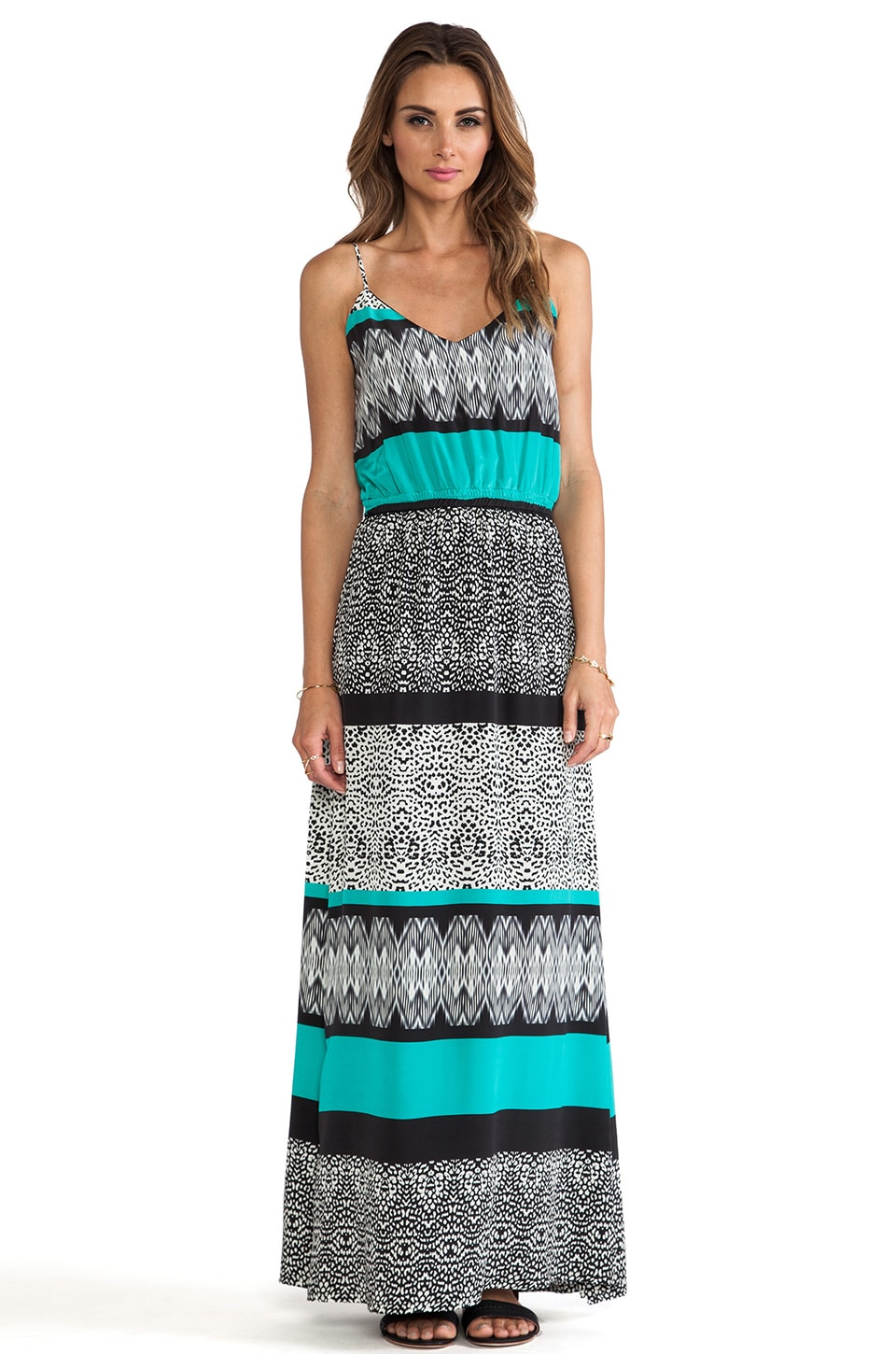 Vix Swimwear Sawi Mabel Long Dress in Aqua
