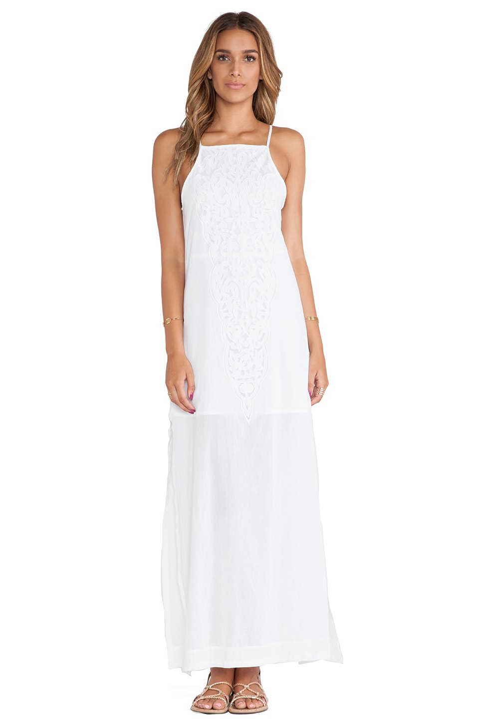 Vix Swimwear Teca Long Dress in Solid White