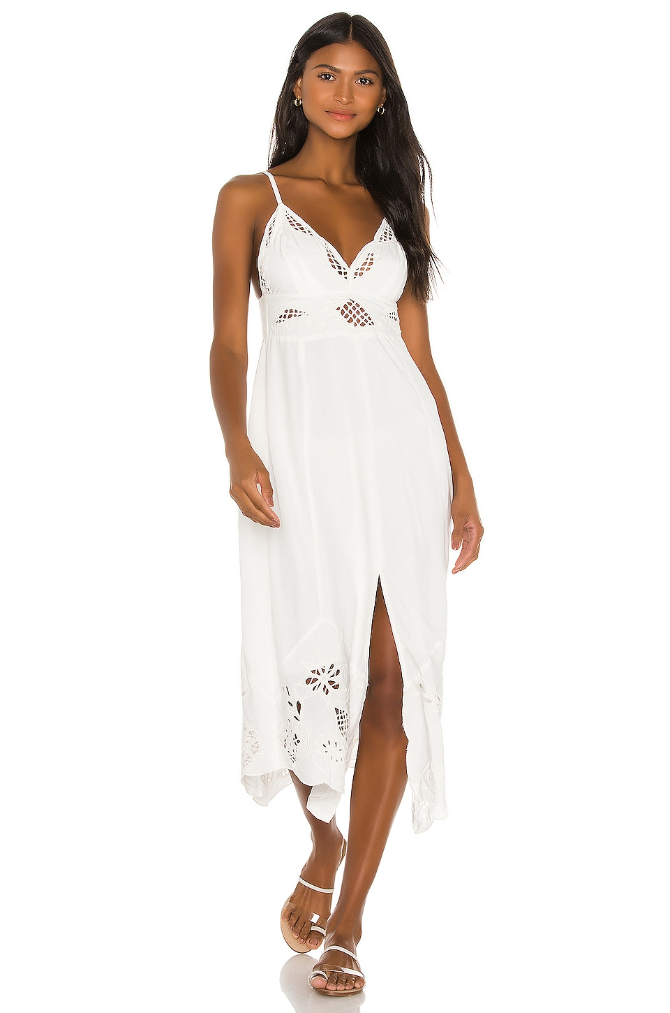 Vix Swimwear Pery Midi Dress in White