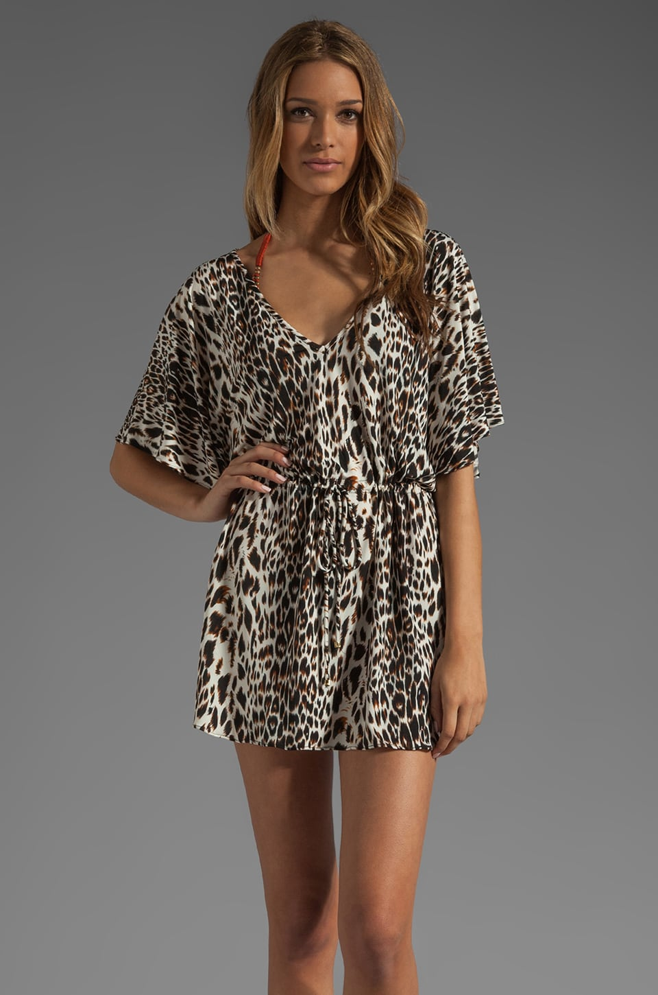 Vix Swimwear Congo Lina Caftan Dress in Animal Print