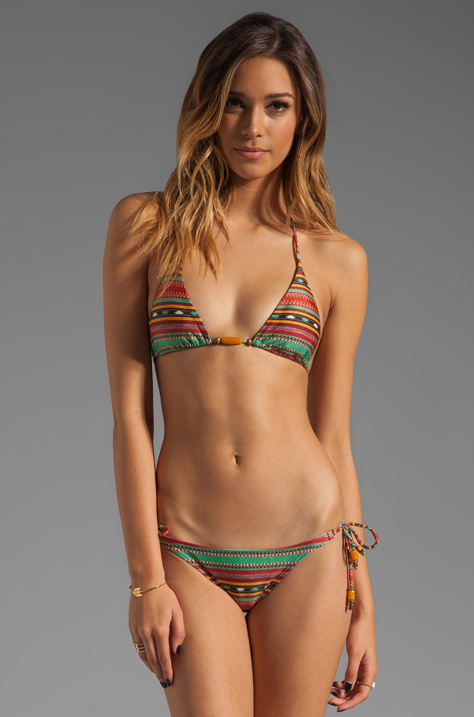 Vix Swimwear Sahara Tri Bikini Top in Multi